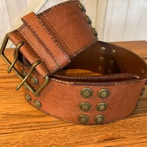 Vintage express leather belt medium